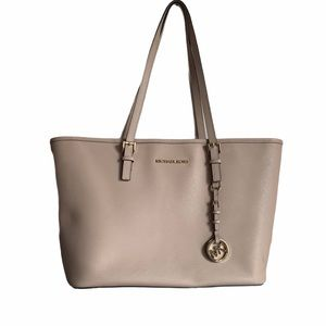 Michael Kors pale pink/nude large tote